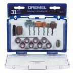 Dremel サンディング/グラインド用ビットセット (686-01) / WHEEL SAND/GRND31PC DREM