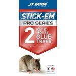 JT Eaton  Stick-Em ネズミトラップ用グルー 2パック × 12個セット (155P) / RAT&MOUSE GLUE TRAP 2PK