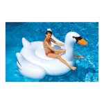 Swimline  ホワイトスワン型プール用フロート (90621) / INFLATABLE SWAN