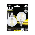 FEIT Electric LED電球 ソフトホワイト 4.5W 2個入 (BPG1640827LED2) / LED FEIT G16.5 40W EQ SW