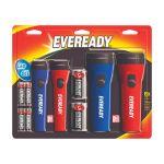 Energizer Eveready LED懐中電灯 25ルーメン ブラック ブルー レッド (EVM5511S) / LED FLASHLIGHT ECON 4PK