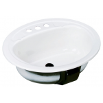 Bootz Azalea 楕円型洗面シンク ホワイト ( 021-2445-00) / SINK LAV WH20.25X17-7/16