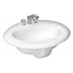 Cato オーバル型洗面シンク ホワイト (23031010100) /  BTH SNK CMRCL WHT 8.75H
