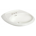 Mansfield Maverick 楕円型洗面シンク ホワイト (348-4) / LAV MAVERICK BASIN WHITE