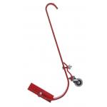 Qual-Craft スティール製はしご用フック レッド (2481) /  LADDER HOOK W/ROLLER