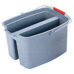 Rubbermaid Commercial 長方形ダブルバケツ グレー (2628-88-GRAY) / PAIL 19QT 2 WELL PLASGRY