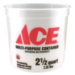 ACE プラスティック製バケツ 25個入(2-5QA5MM100)/ MULTI-MIX CONTAINER2.5QT