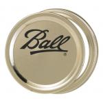 Ball メイソンジャーワイドマウス用バンド&蓋 12個入 12パック (40000) / MASON LID&BANDS WM BX12