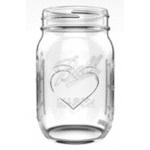 Ball Collection Elite コレクションジャー レギュラーマウス 16オンス 4個入 4パック (1440069058) / CANNING JAR HEART 4PK