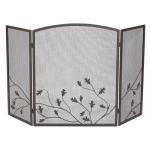 Panacea スティール製暖炉用スクリーン (15914) / SCREEN OAK LEAF 32 X 50