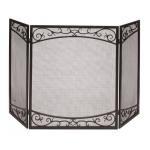 Panacea スティール製暖炉用スクリーン (15917) / SCREEN SCROLL 30 X 50