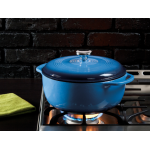 Lodge Logic 鋳鉄製ダッチオーブン ブルー (EC6D33) / BLUE DUTCH OVEN 6QT