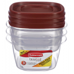 Rubbermaid  アソーテッド食物保存コンテナ 6点セット (2049358) / EASY FIND LID 6PC VALUE