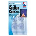 Adams フック付吸着キャップ 4個入 (7500-77-3040) / SUCTION CUPS SM CARD/4