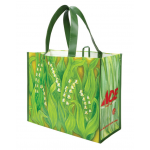 1 Bag at a Time リサイクルショッピングバッグ 50個セット  (1101-40LV) / REUSABLE BAG LILY VALLEY