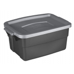 Rubbermaid Roughneck 積み重ね式収納ボックス12個セット (RMRT030010) / ROUGHNECK TOTE 3G GRY