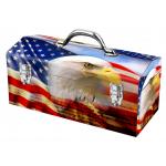 """Windco スティール製ツールボックス アメリカンフラッグイーグル柄 (50563) / AMER FLG EAGL TL BOX 16"""""""