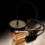 "Feit Electric ペンダントライト 1ライト ブラック (PN/BLK) / PENDANT ADJ BLK 55"" 60W"