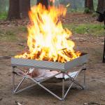 "Fireside Outdoor Pop-Up Pit ウッドファイヤーピット (3178-WP-106) / FIRE PIT ALUM SLV 24X24"""