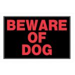 "Hillman 英字サイン「BEWARE OF DOG」6枚セット (839924) / BEWARE OF DOG SIGN 8X12"""