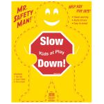 """Hillman 英字サイン 「徐行!子供が遊んでいます」6枚セット ( 840053) / CHILDRN PLAY SIGN 19X24"""""""