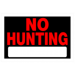 "Hillman 英字サイン「NO HUNTING」6枚セット (839940) / NO HUNTING SIGN 8X12"""