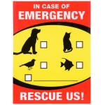 "Hillman 緊急サイン 6枚セット (843337) / SIGN EMRGCY PET RSC 6X4"""