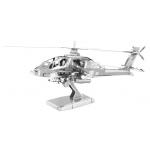 Fascinations Metal Earth AH-64アパッチ 3Dモデルキット ( MMS083) / MODEL KT 3D AH-64 APACHE