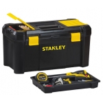"Stanley プラスティック製ツールボックス (STST19331) / TOOL BOX BLK PLASTIC 19"""