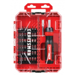Craftsman マルチビットスクリュードライバー44点セット (CMHT68017) / MULTI-BIT DRIVR SET 44PC