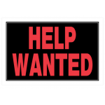 """Hillman 英字サイン「HELP WANTED」6枚セット (839894) / HELP WANTED SIGN 8X12"""""""