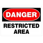 "Hillman 英字サイン 「Danger Restricted Area」(842058) 6枚セット / SIGN DNGR RSTRCTD 10X14"""