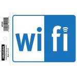 "Hillman WIFI インフォメーションサイン (843335) 6枚セット / SIGN WIFI BLU 4X6"""