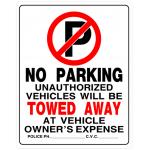 "Hillman 英字サイン 駐車禁止 6枚セット (842196) / NO PARKING SIGN 19""X15"""
