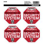 Hillman 英字デカール セキュリティシステム 4個入6セット (843466) / DECAL SECURE SYSTM 4PK