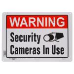 "Hillman 英字サイン セキュリティカメラ作動中 6枚セット(843296) / SIGN SECURITY CAM 10X14"""