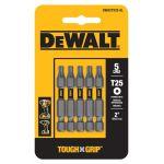"""DeWalt MAXFIT Torx パワービット 5個入 (DWA2TX25-5) / MAXFIT BIT TORX T25X2""""5P"""
