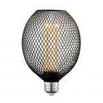 Globe Electric Moderna フィラメントLED電球 ブラック (35876) / FLM LED G40 E26 BLK 40W