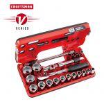 """Craftsman V-Series ソケット&ツール21点セット (CMMT45755V) / SCKT TL SET MM 1/2""""21PC"""