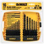 DeWalt ドリルビット16点セット/ブラックオキサイド (DW1176) / DRILL BIT BLK OXIDE 16P