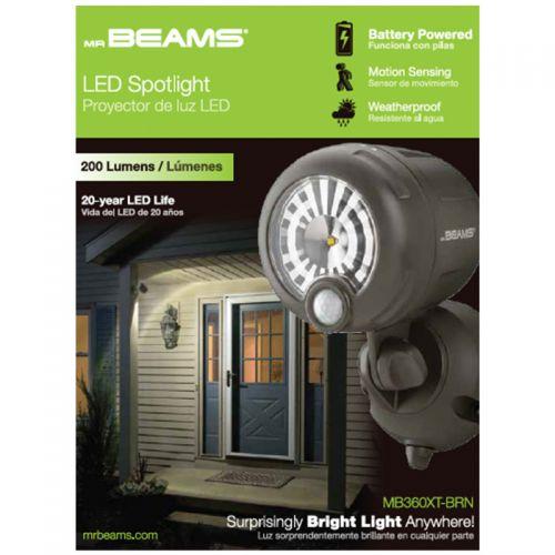 Mr. Beams  動作感知式バスポットライト (MB360XT-BRN-01-) / WIRELESS SPTLITE200L BRN