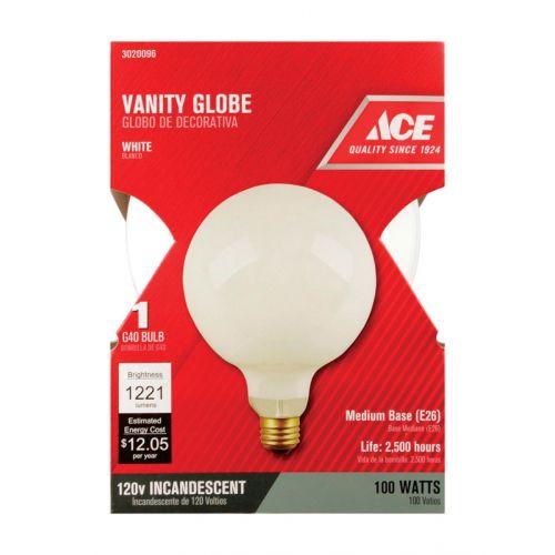 ACE グローブ型白熱電球 100W 4パック (031085148) / BULB GLOBE G40 100W ACE