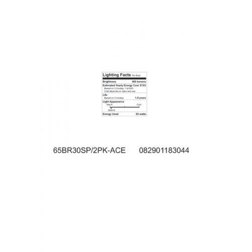ACE  白熱電球スポットライト 65W 2個入4パック (037285148) / BULB RFLCTR 65BR30SP/2PK