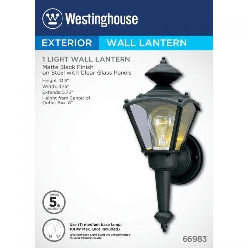 WESTINGHOUSE ウォールランタン (66983) / FIXT EXT1LBL13X5.25X4.75