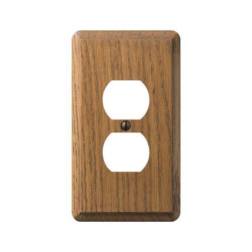 Amerelle Contemporary 木製2口コンセントウォールプレート 1ギャング