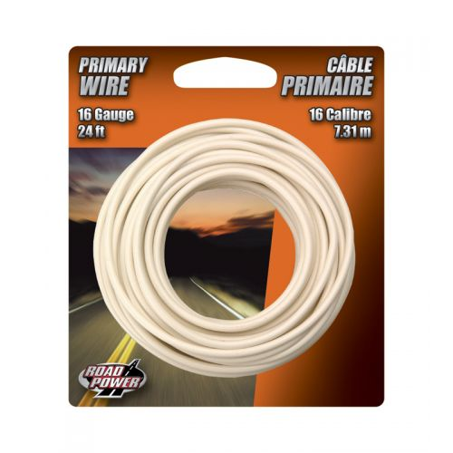 Coleman Cable プライマリーワイヤー 16ゲージ 7.2m (55667933) / WIRE PRIMARY 16GA24' WHT