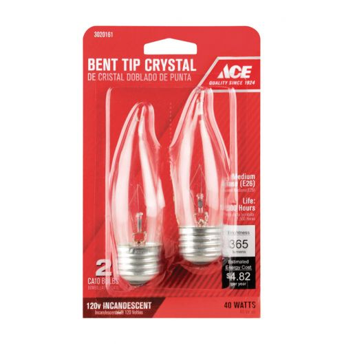 ACE 炎型白熱電球 40ワット CA9 ホワイト 2個入 6パック (0376551) / BULB-DEC 40CAM CD2 ACE