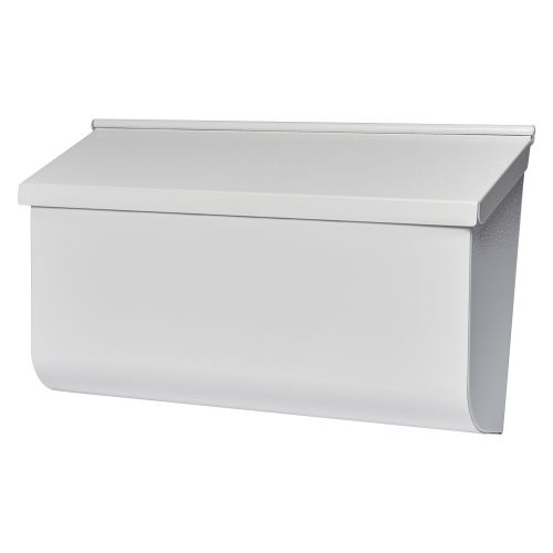 Gibraltar Mailboxes Woodlands 壁取り付け用メールボックス ホワイト (L4009WW0) / MAILBOX HORZ WOODLNDS WH