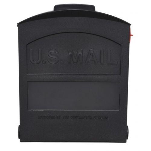 Gibraltar Mailboxes Gibraltar Roughneck 支柱設置式プラスティック製メールボックス (GMB505B01) / MAILBOX ROUGHNECK BLK SM
