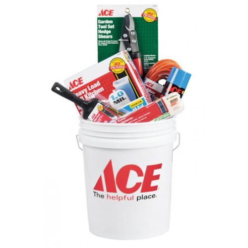 Ace プラスティック製バケツ ホワイト 10個入 (05GACE54120) /  PLSTC BUCKET 5G WHT ACE
